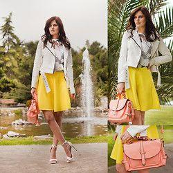 Wholesale7 Flower Twinset, Bb Dakota Jacket, Wholesale7 Shoulder Bag, Mango Sandals - IN YOUR EYES - Viktoriya Sener