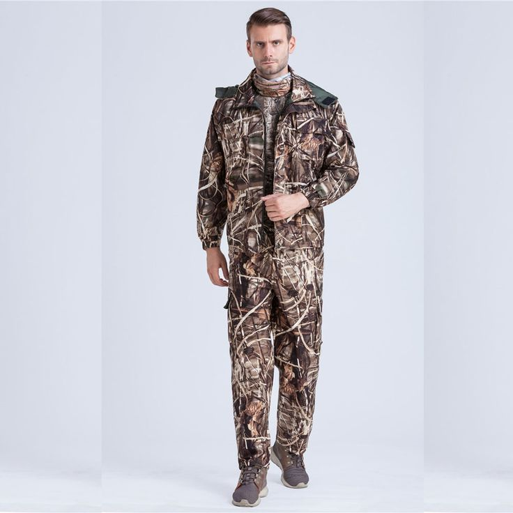 (107.00$)  Watch here - http://aingb.worlditems.win/all/product.php?id=32771318882 - Reed Bionic Bulrush Phragmites Camo Hunting Set Ghillie Suit Tactical Combat Coat Jacket & Pants Hunting Clothes