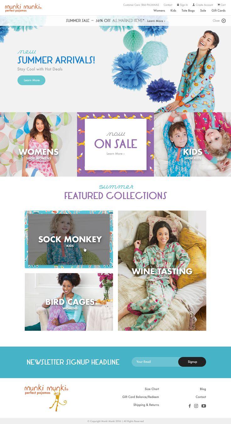 Pajamas website design for Munkimunki by: Mike Delsing