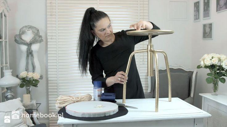 Kobieta po czterdziestce: Szybki sposób na odnowę stołka DIY z Homebook.pl