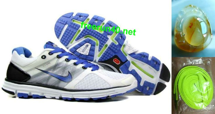 Mens Nike Lunarglide 2 White Blue Shoes