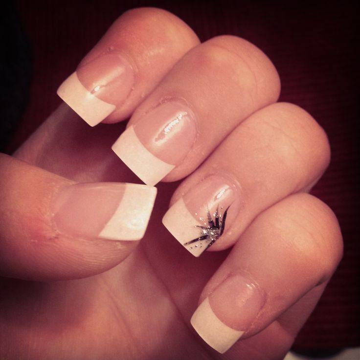 French Manicure #acrylics #design #prom2013