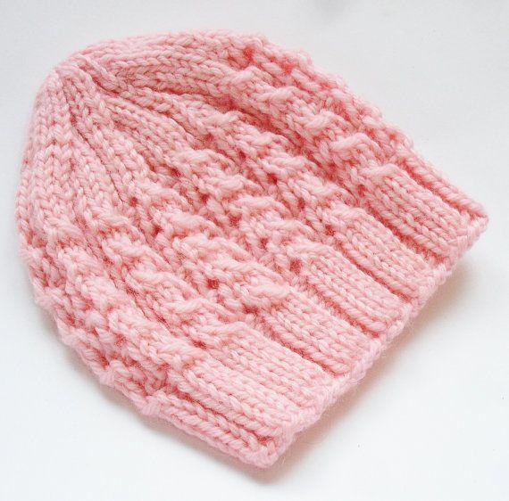 Beanie ai ferri per una bambina, beanie baby, cappello bambino, cappello neonato, neonato cappello, cappello ragazza bambino, 100% lana merino, maglia a mano, fatta per ordine