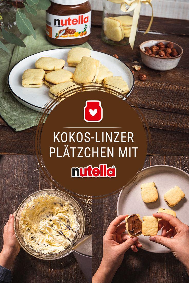 Kokos-Linzer-Plätzchen mit nutella