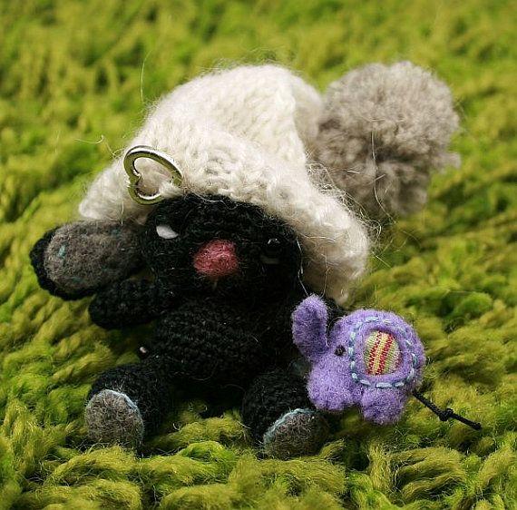 Zubby mini Crotchet lucky Rabbit Art OOAK Rabbit by SoutacheOOAK