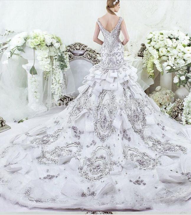 Dar Sara luxe en cristal Swarovski broderie perlée sirène robes de ...