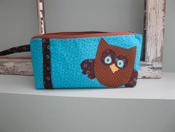Hoot Toot Owl Travel Bag / Makeup Bag / Pencil Case - PDF Pattern on Etsy, $7.07 CAD