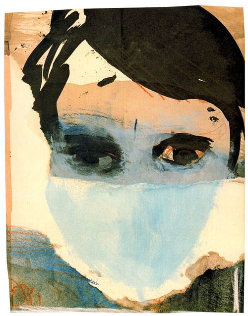 1980 Portrait of Erik Andriesse, Marlene Dumas (b1953 Cape Town, South Africa; in 1976 relocated in Amsterdam)