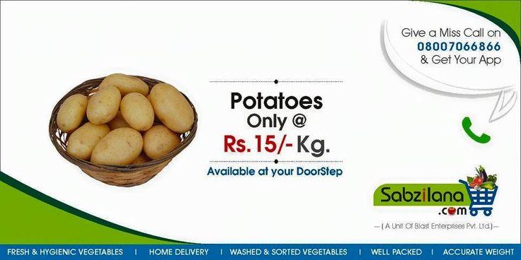 Todays Deal #Potatoes @ Rs.15/- KG Only #Homedelivery #Nagpur #Vegetables #Sabzilana.com