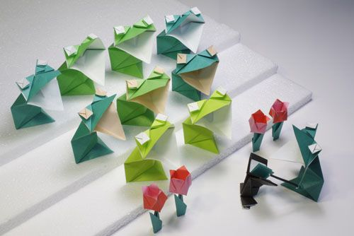 chatty frog origami with instructions: Origami Blog, Origami Aquatic, Origami Instructions, Origami Animal, Frogs Origami, Crafts Idea, Chatti Frogs, Paper Crafts, Origami Folder