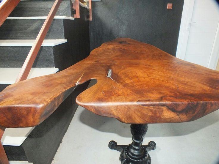 Ceviz masif ahşap masa / Walnut wooden statue table