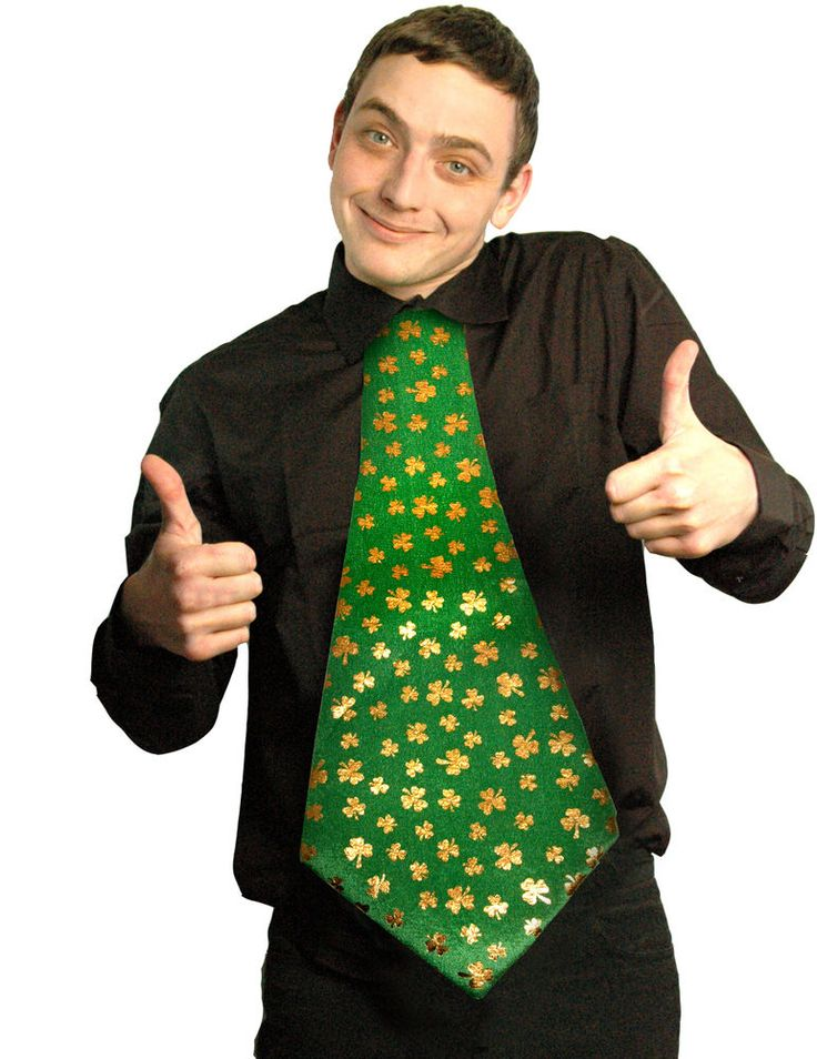 GIANT SHAMROCK TIE ST PATRICKS DAY STAG NIGHT IRISH THEME FANCY DRESS IRELAND