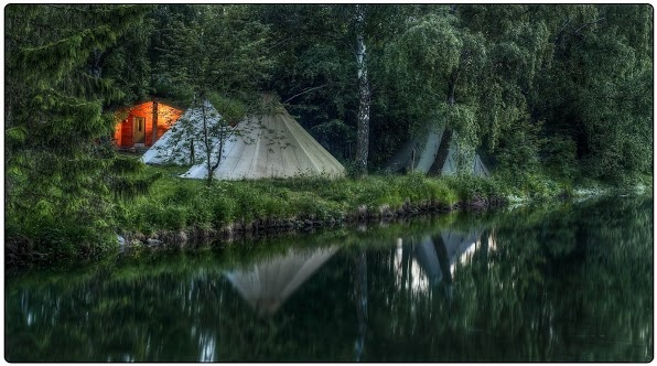 Our outdoor camp at Sjoa Rafting in Norway Photo: Gunnar Kristian Kopperud