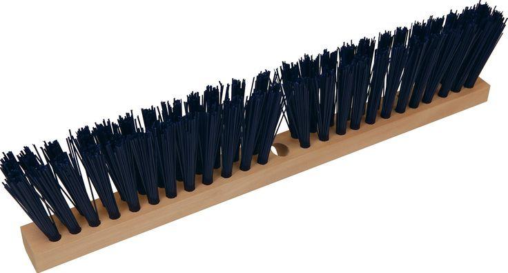 Hamburg-nexstep Comm Prod-Heavy Duty Slim Push Broom Head Only- Blue 24 Inch