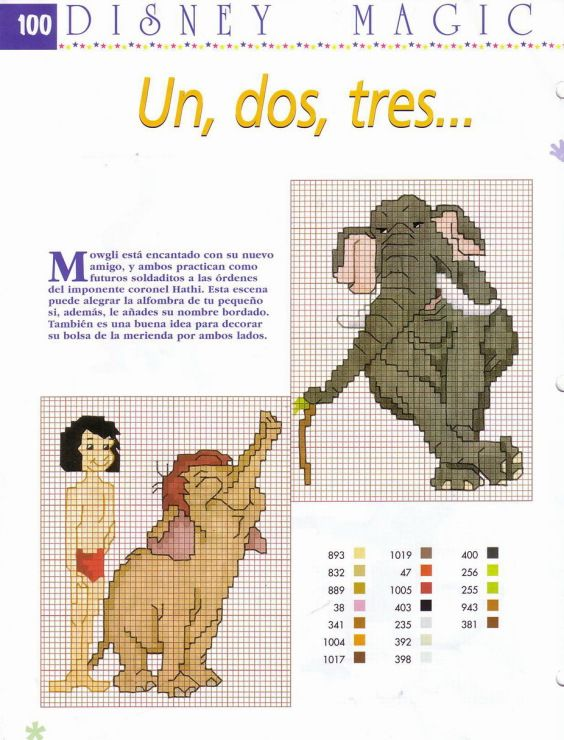 48 best cross stitch the jungle book images on pinterest cross gallery 5 25 mornela sciox Images