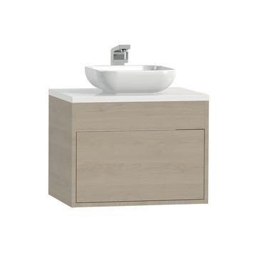 Tiger Helsinki badkamermeubel 60 cm naturel eiken met waskom kopen? Verfraai je huis & tuin met Badkamermeubelen van KARWEI