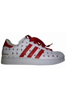 #Adidas Superstar Collector London Baskets Sneakers Cuir Blanc Rouge 40 #kollas