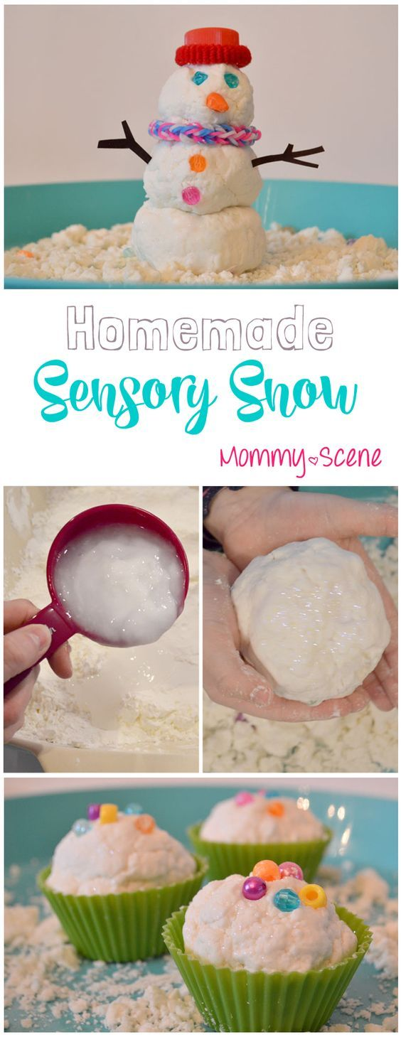 DIY Sensory Snow is a fun way to have a snow day any time of the year, easy to make with a few ingredients you already have in your kitchen!