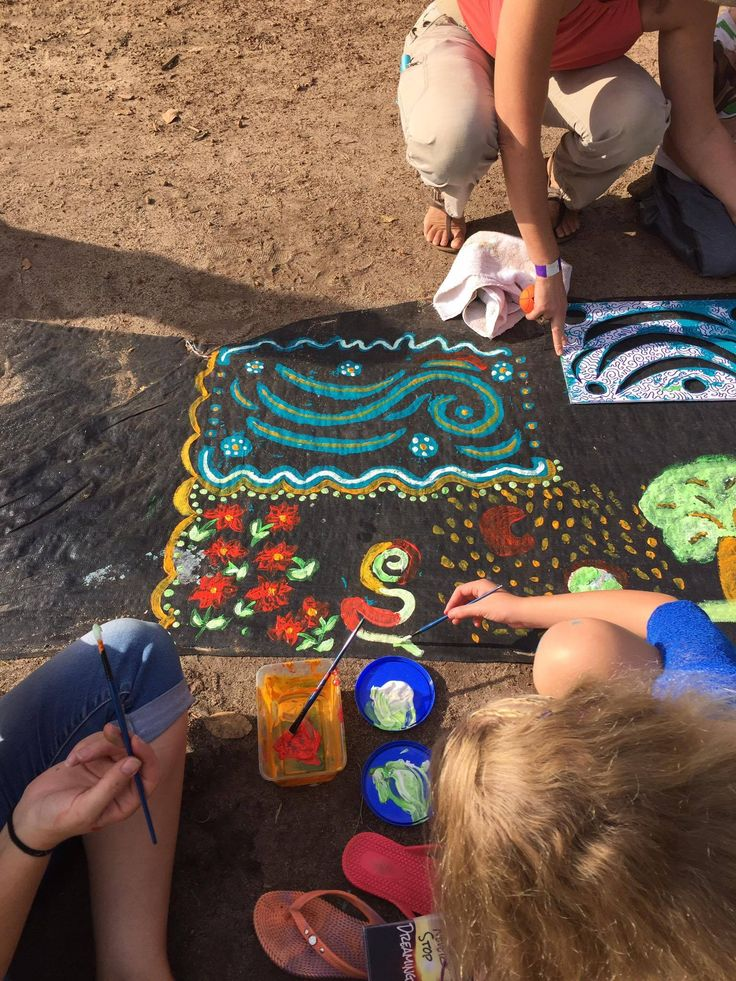 Getting stuck in to the  Rainbow Serpent Project at Fairbridge Festival. See more at www.fairbridgefestival.com.au