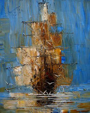 "Saatchi Online Artist Justyna Kopania; Painting, ""Dawn"" cool ship."