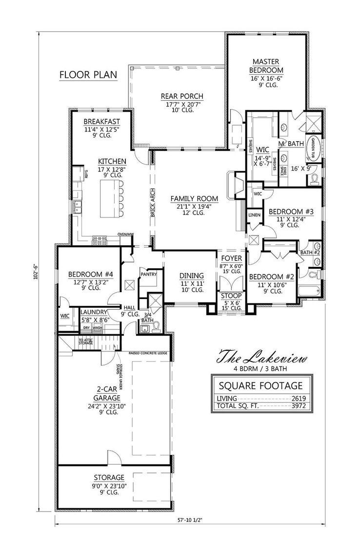 48 best House Plans images on Pinterest | House floor plans, House ...