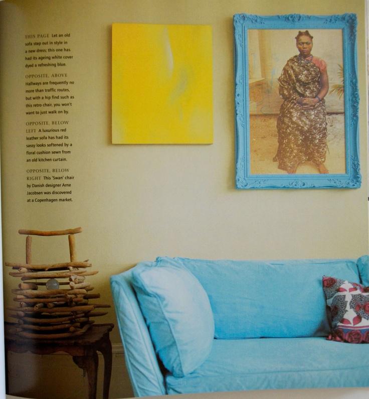Dying Sofa Covers: DIYable Design: Dyed Colorful Sofa Slipcover