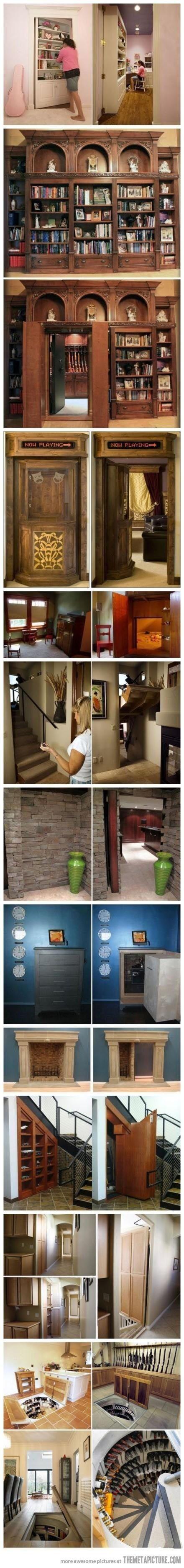 Houses with secret doors!