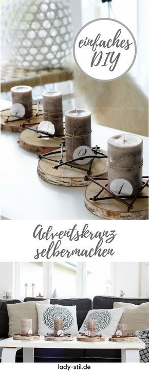 DIY Adventskranz Advent ! Advent