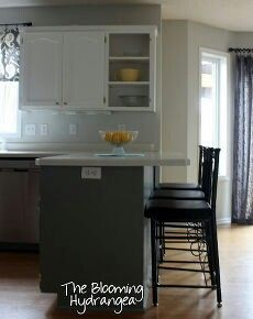 Idea for extending countertop next to stove & over to back door ...