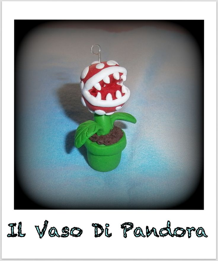 Fimo, Pianta carnivora Super Mario, disponibile come collana