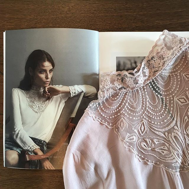 Preview of our new beautiful lace style  #lace #laceblouse #handrawnlace #rosemundecph