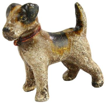 Cast Iron Woody the Terrier Sculpture traditional-decorative-objects-and-figurines