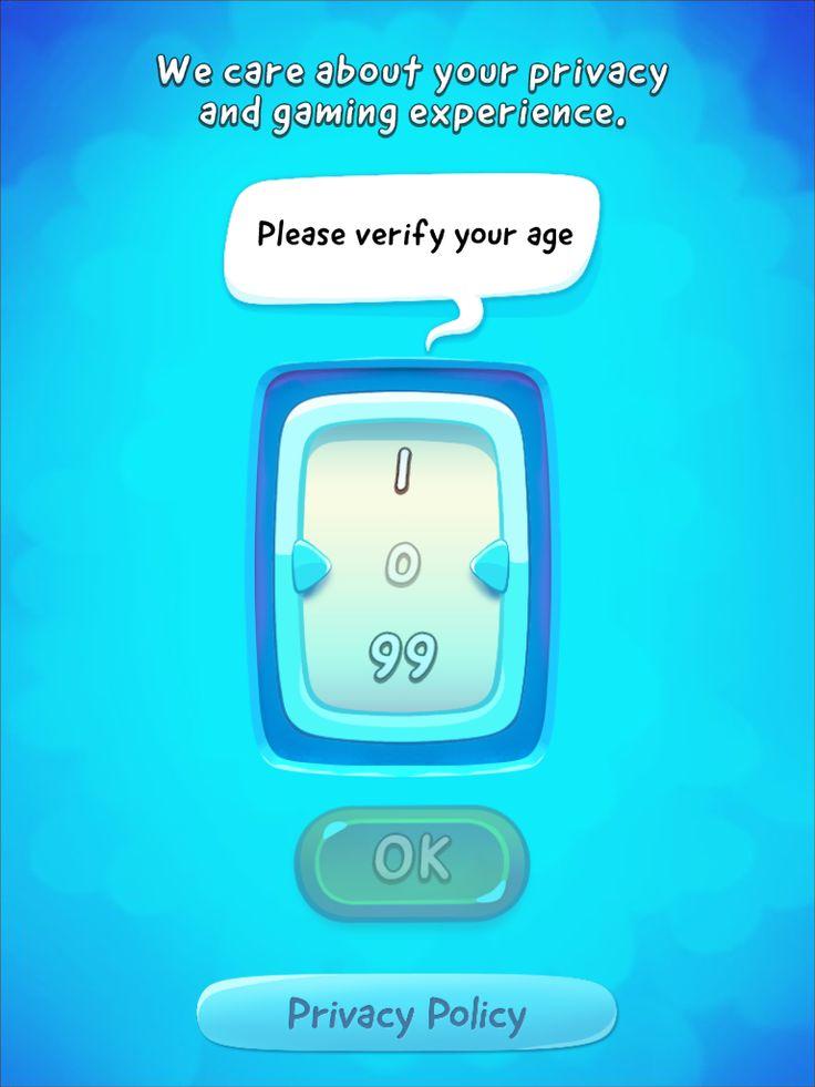 CUT the ROPE 2 | Age Gate | UI, HUD, User Interface, Game Art, GUI, iOS, Apps, Games, Grahic Desgin, Puzzle Game, Brain Games, Zeptolab | www.girlvsgui.com