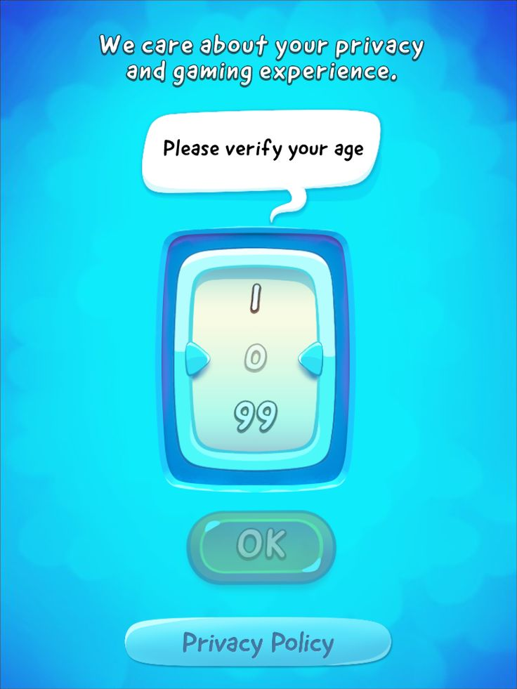 CUT the ROPE 2 | Age Gate | UI, HUD, User Interface, Game Art, GUI, iOS, Apps, Games, Grahic Desgin, Puzzle Game, Brain Games, Zeptolab | www.girlvsgui.com