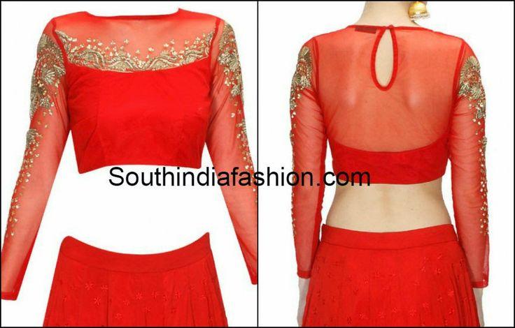 full sleeves net blouse