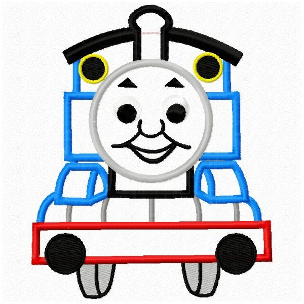 Thomas The Train Applique Machine Embroidery Design