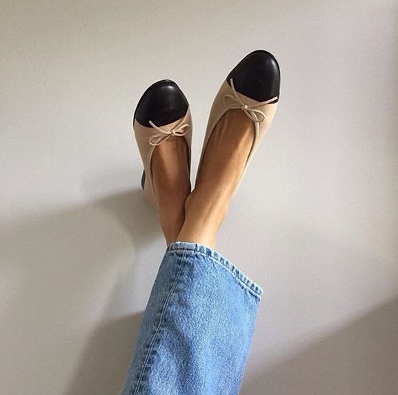 Chanel shoes + jeans and...style