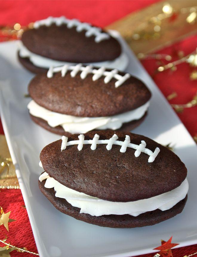 football whoopie pies: Tailgating Recipe
