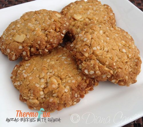 ThermoFun - Quinoa Anzac Biscuits Recipe - ThermoFun | making decadent food at home |