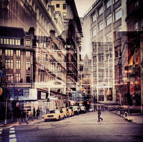 New York + London A collection of Double Exposures by Daniella Zalcman.