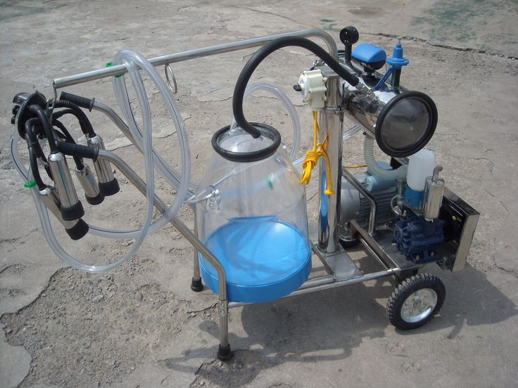 Vacuum Single Cow Milking Machine with Plastic Bucket
