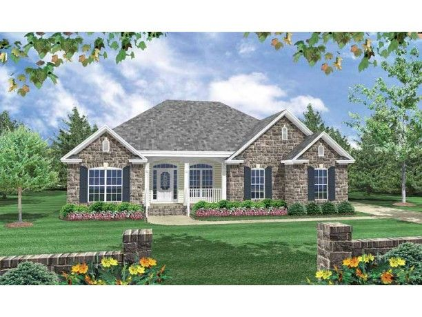 72 best images about home exteriors and floorplans on for French country ranch home plans