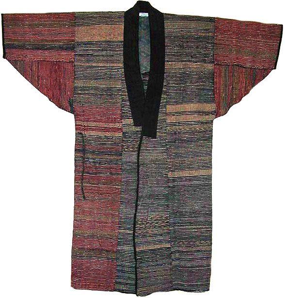 Sakiori / Man's Coat, Japan, 19th century. Technique: Saki-ori (split-woven) or rag weaving, cotton.