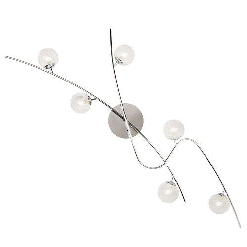 Plafonnier arc de 6 lumières - Julie Lum - Suspensions, Lustres-Luminaires-Salon, Salle à manger-Par pièce - Décoration intérieur - Alinea