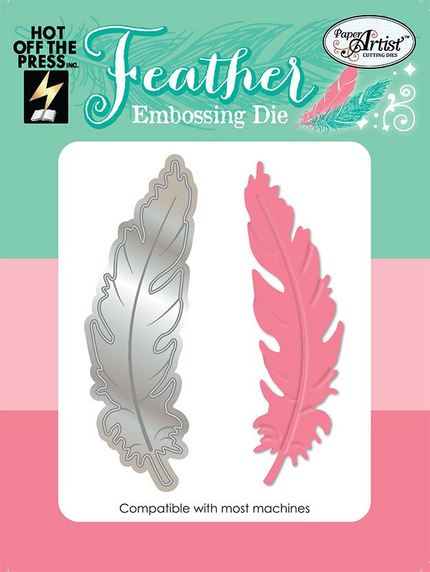 Grab your FREE Hot Off The Press feather embossing die with issue 132 of Simply Cards & Papercraft here: http://www.moremags.com/papercrafts/simply-cards-papercraft/issue132-simply-cards-papercraft