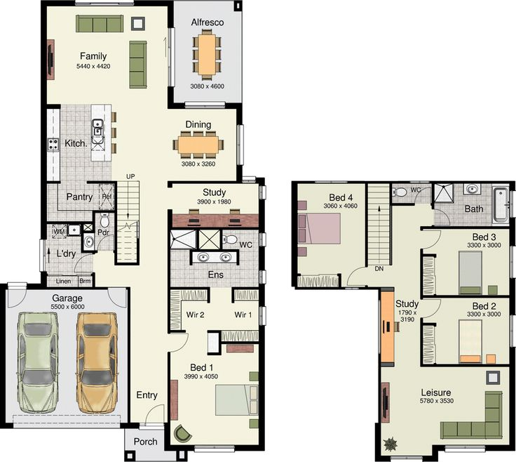 This is such a cool 2 storey home design. Tarwin 297 by Hotondo Homes.