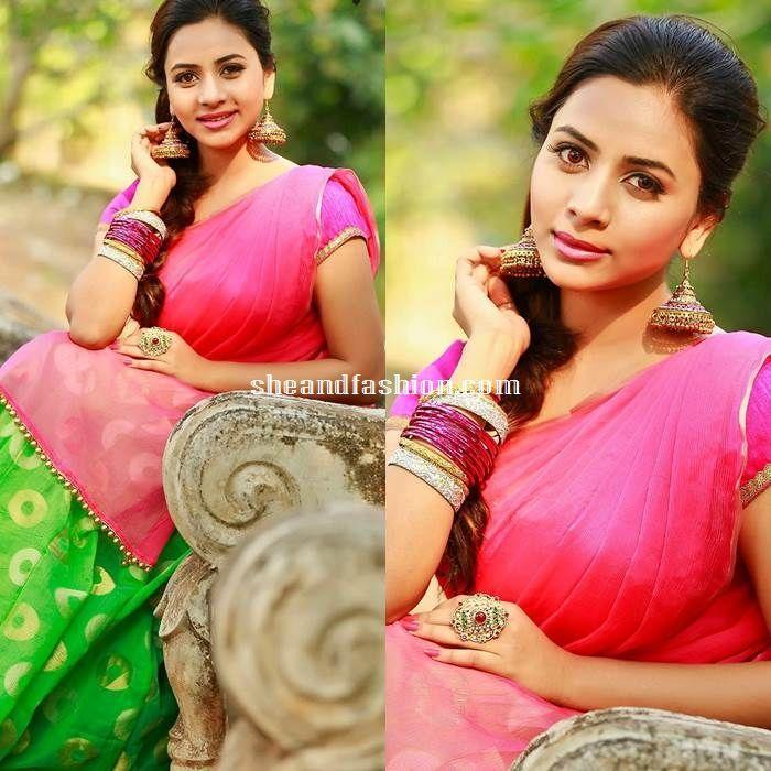Actress Suza Kumar in Half Saree for a latest photo shoot 2015