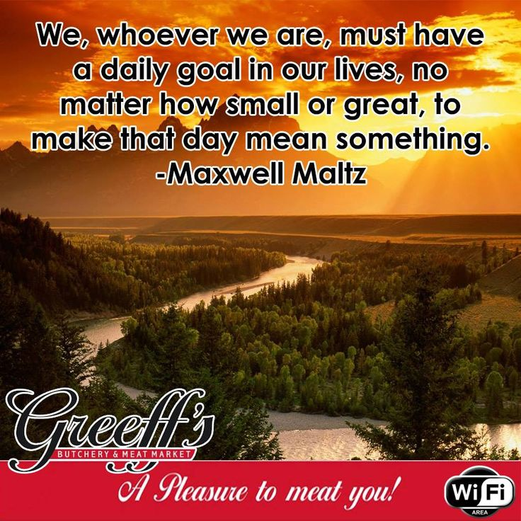 We, whoever we are, must have a daily goal in our lives, no matter how small or great, to make that day mean something. -Maxwell Maltz #Sunday #motivation