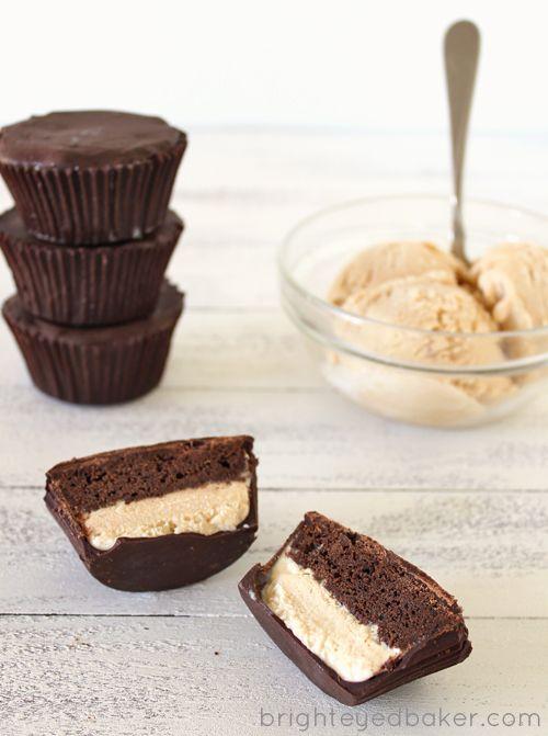 Ice Cream Cupcake Peanut Butter CupsChocolates Cake, Cupcakes Projects, Chocolates Peanut Butter, Chocolates Cups, Ice Cream Cupcakes, Chocolates Cupcakes, Cupcakes Peanut, Peanut Butter Cups, Icecream