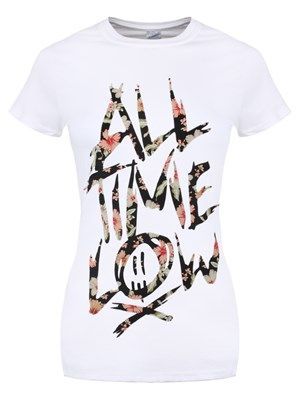 If American pop punk is your bag then you are sure to love the unique sound of All Time Low! A favourite with fans, the 'A love like war' hit makers are great at getting the crowd going and the fact they are super cute definitely helps. Grab yourself this floral logo tee and ensure you support your favourite band whenever you can. Official Merchandise.